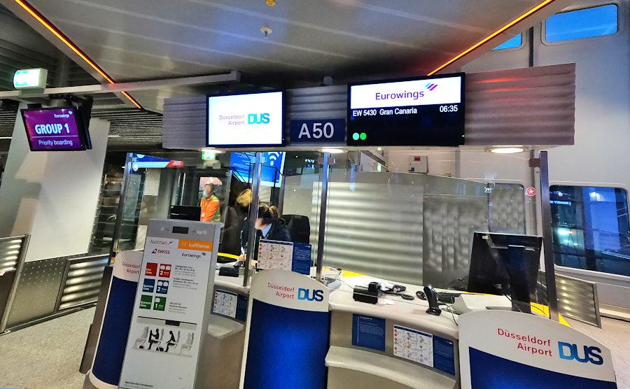 Boarding Eurowings Düsseldorf