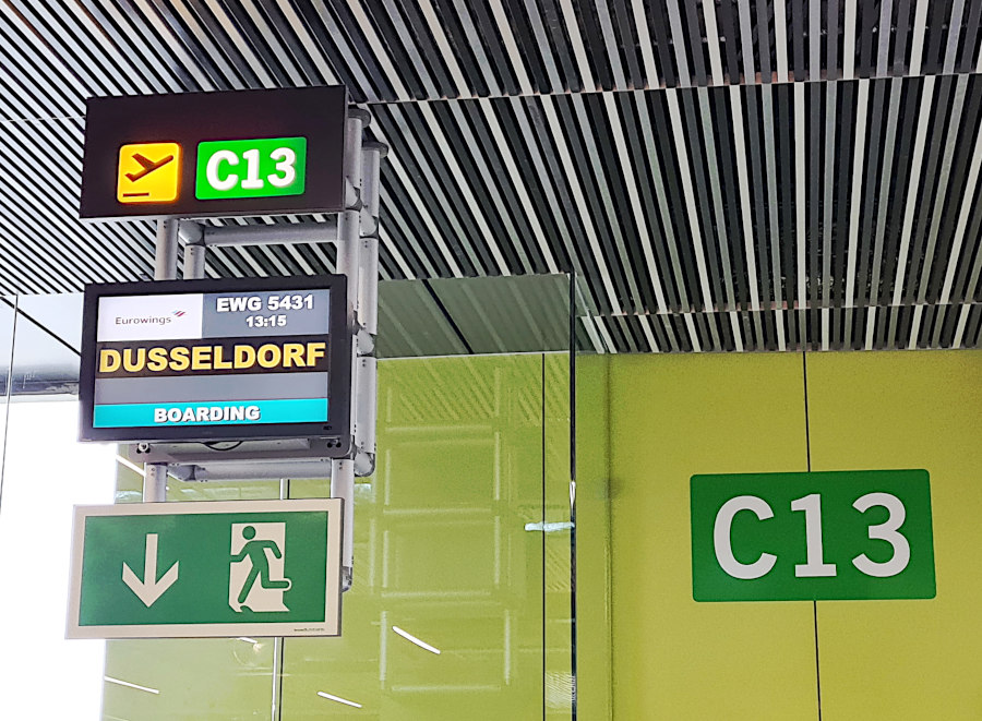 Boarding des Eurowingsflugs in Gran Canaria nach Düsseldorf