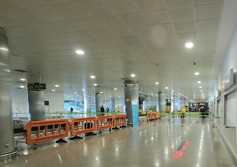 Keine Warteschlangen im Ankunftsbereich am Flughafen Las Palmas de Gran Canaria