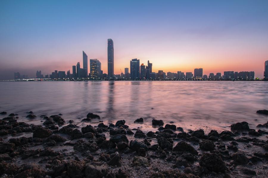 Skyline von Abu Dhabi in den VAE