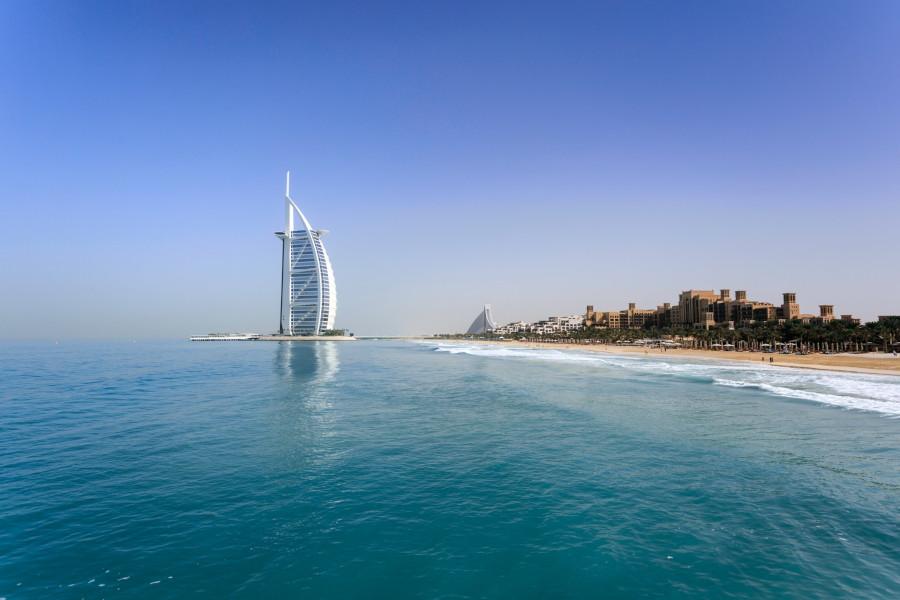 Strand Jumeirah Beach bei Burj al Arab Dubai