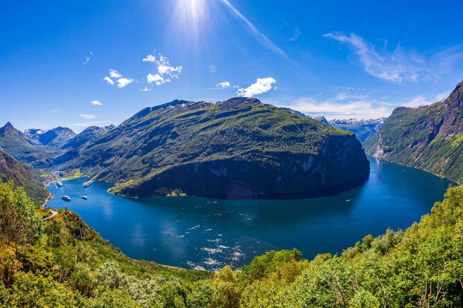 Traumhafte Natur rund um den Geiranger Fjord in Norwegen