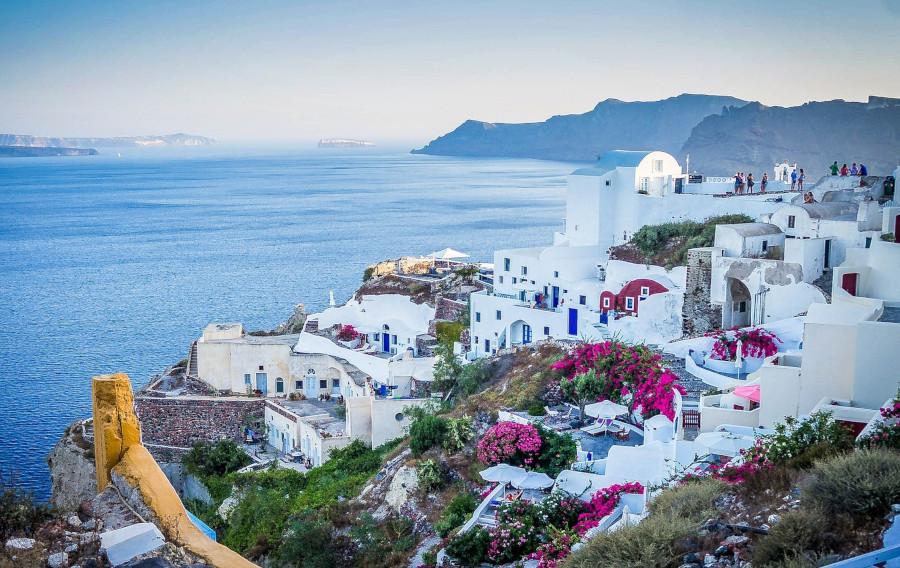 Malerisches Santorini, Griechenland