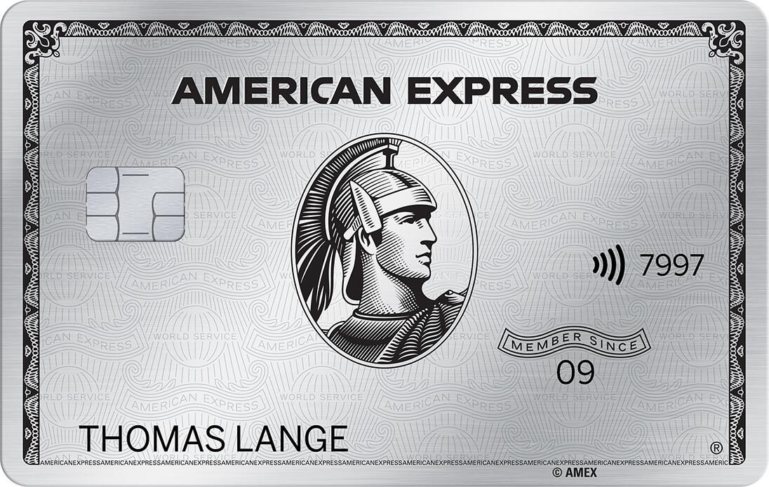 American Express Platinum Kreditkarte aus Metall