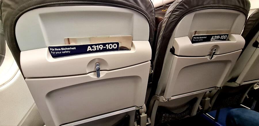 3er-Reihe in der Lufthansa Business Class A319-100