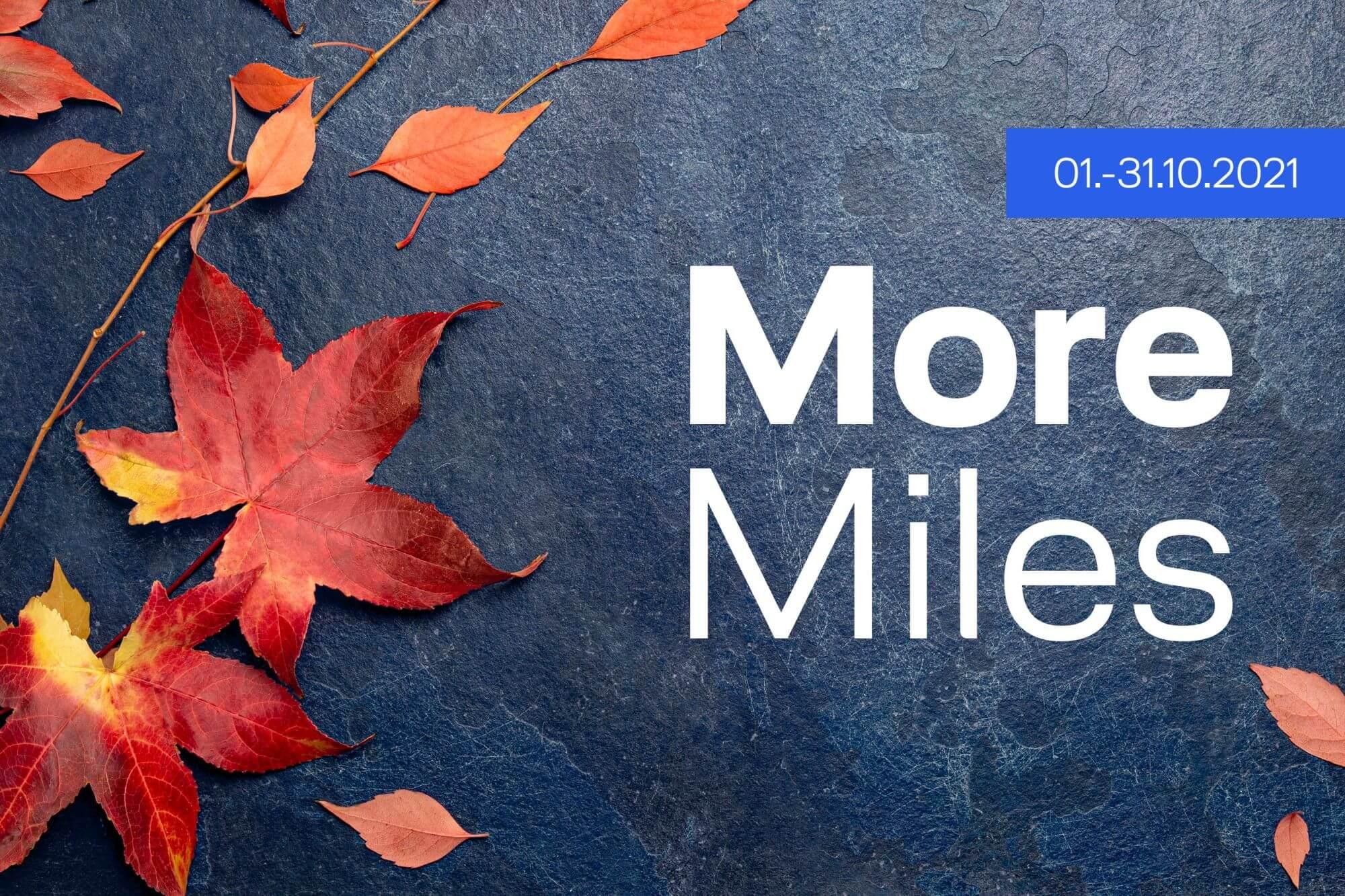 Miles & More Angebote Oktober 2021