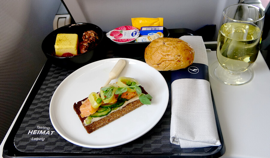 """Ansprechendes """"Tasting Heimat Leipzig"""" in der Lufthansa Business Class Kurzstrecke"""