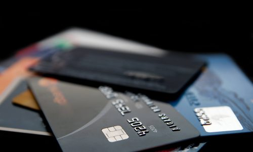 Kreditkarten-Mischung
