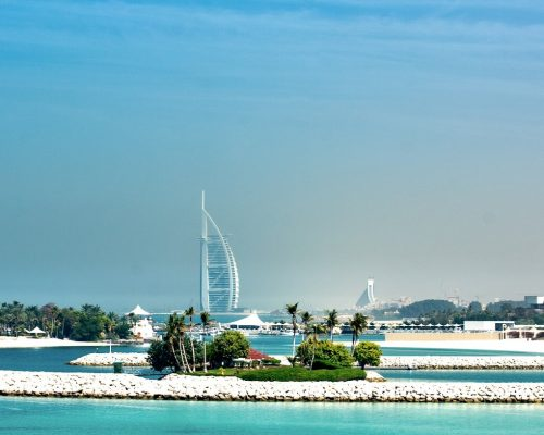 Himmlische Strände mit Blick auf Burj al Arab Dubai